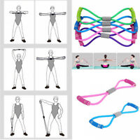 Men Women Fitness Equipment Elastic Resistance Bands Tube Exercise Band For Yoga