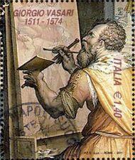 2011 Italia Repubblica 500° nascita di Giorgio Vasari usata
