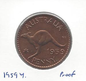 1959Y. Penny Proof