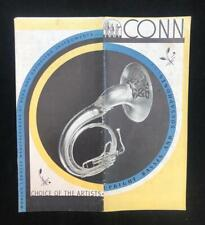C1940S CONN, MUSICAL INSTRUMENT SALES CATALOGUE ILLUSTRATED AMERICA