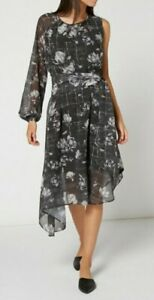 Label Lab Asymmetric Magnolia Dress Size 16