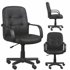Executive Leather Office Chair Computer Desk Swivel Adjustable Lift Task Chair