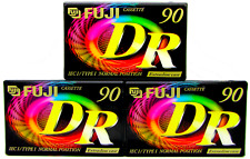 More details for fuji dr90 - 90 minutes - blank audio cassette tapes -brand new & sealed x3