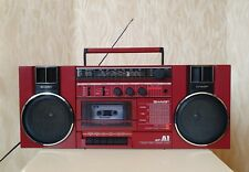 SHARP GF-A1H(R) RED BOOMBOX VINTAGE FULLY WORKING