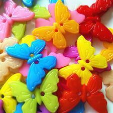 100stk Holz Knopf Knöpfe Holzknöpfe Kinderknopf Buttons Schmetterling Nähen