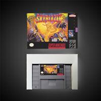 Skyblazer USA NTSC Version With Retail Box Action Game Super Nintendo SNES Game
