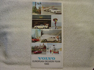 VOLVO 1965 booklet for European delivery plan