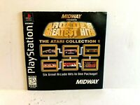 Atari Collection 1 PS1 MANUAL ONLY Authentic Black Label