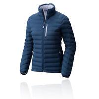 Mountain Hardwear Womens Stretch Down Jacket Top Blue Sports Outdoors Full Zip