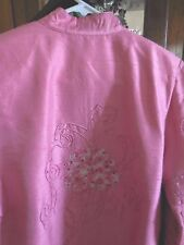 Tunique FAB  Top Jacket Asian inspired Tunic  Rose Pink Beaded S Spring Easter