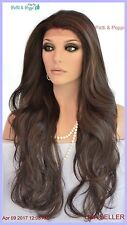 Lace Front Wig Color #4 LONG DELICATE WAVES SEDUCTIVE HOT STYLE US SELLER 176 B