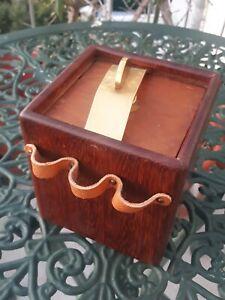 Savinelli Tabakdose Pfeifenhalter Holz Messing Leder