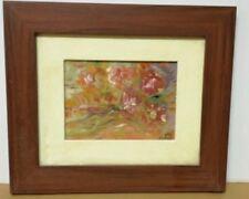 Dipinto olio su cartone telato firmato Rossi Mary 1973 fiori rose con dedica