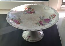 ANTIQUE ROYAL SEMI PORCELAIN CAKE STAND - BOOTHS, STAFFORDSHIRE, ENGLAND