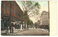 Troy, NY 2nd Street looking South Vintage Postcard Drug Store Fearey's Shoes St