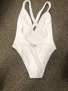 Size 14 16 LARGE FOREVER 21 White Swimsuit One Piece TAGS