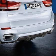 Rear Splitter Carbon Fiber Genuine BMW X5 M Performance M Sport 51192339222