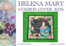 """Patchwork Kit Complete Cushion Cover Kit - Let Your Day be Full of Song - 16""""Sq"""