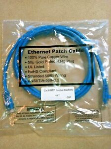 RoHS Gold Plated RJ45 Ethernet Cable