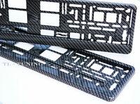 2 x Kennzeichenhalter CARBON 3D Optik Hochglanz Lackiert Nummernschildhalter