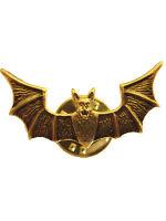 Original Russian SPETSNAZ BRASS BAT Metal Badge - Soviet Special Forces Cap Pin