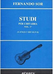 FERNANDO SOR - STUDI Vol. 1 - Rev. Gangi-Carfagna - Edizione Berben