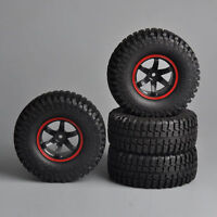 4X100mm 12mm Hex Rubber Tire Wheels For HSP HPI 1/10 RC Rock Crawler Car Truck