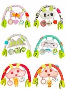 LADIDA Activity Toy Play Arch, 0+m, 3 Educational Toys, Rattle, Mirror, Teether