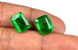 Emerald Cut Muzo Colombian Emerald Pair 100% Natural 14-16 Carat AGI Certified