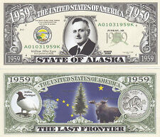 50 Alaska AK State Quarter Patriotic Novelty Bills Lot