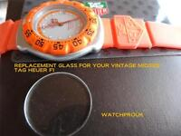 QUALITY GLASS crystal FOR TAG HEUER  F1  FORMULA ONE WA1210, WA1211, WA1213, WA1