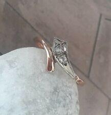 Diamant Schlangen Gold Ring 14 Kt Gold Rotgold 585er Gold