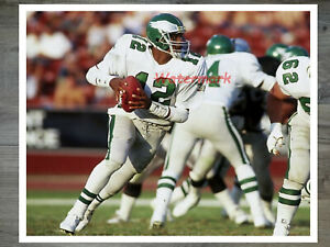NFL Philadelphia Eagles Randall Cunningham Game Action Color 8 X 10 Photo Pic