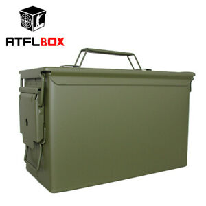 Army Green Military shooting Outdoor Metal Steel Waterproof Ammo Can Storage