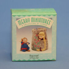 Hallmark Merry Miniatures Rapunzel 2 Piece Set Figurines 1998 Prince Princess