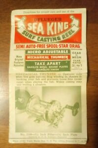 Vintage Pflueger Sea King Surf Casting Reel Care Use Parts