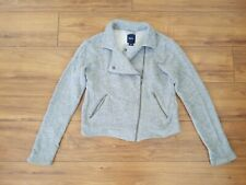 GAP KIDS Heathered Grey Moto Jacket GIRLS SZ XXL (14-16) Marled Side Zip