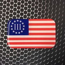 2 NEW BLACK /& WHITE THREE PERCENT 3/% OATH KEEPER FLAG DOMED DECALS STICKERS
