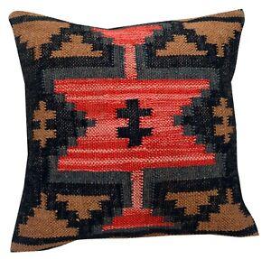 Lot of 10 Pcs Set Vintage Kilim Pillow Case 18x18 Hand Woven Jute Rug 10 Set 32