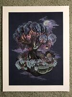 Firefly Treehouse Art Fantasy Print Poster Mondo Nicole Gustafsson