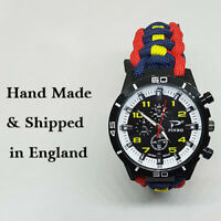Paracord Watch with The Royal Logistic Corp (RLC) Colours a Great Gift