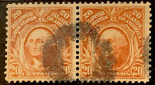 H9/125 US Philippines Stamp 1899 PH248 20c Pair UNHNG Very Fresh Stamp Coll