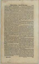 Rotenburg ob der TAUBER Original Textblatt um1690 WEIN Maximilian Reinheitsgebot