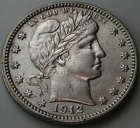 1912 Barber Quarter in a SAFLIP® - AU+ Details