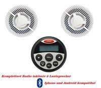 Marine Radio USB/Bluetooth Iphone Android kompatibel mit Lautsprecher als Set