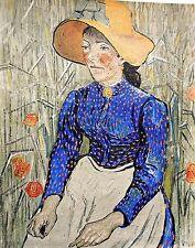 Van Gogh: Bauernmädchen; Hochwertiger Kunstdruck 006 Kunstkreis Luzern 60x48cm