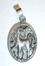 Anhänger Kette EINHORN ECHT Silber 925 Unicorn Pferd Fabelwesen Zauberwesen SS29