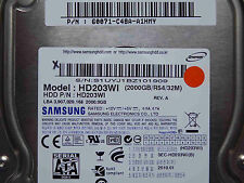 2 TB Samsung HD203WI / P/N: 60071-C48A-A1HMY / 2010.01 / F3_4D REV.01 hard disk