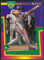 Original Autograph of Howard Johnson of the Mets on a 1993 Upper Deck Card