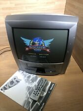 "Philips 14PV505/07 Portable 14"" CRT TV VHS VCR Retro Gaming Screen & Clock Radio"